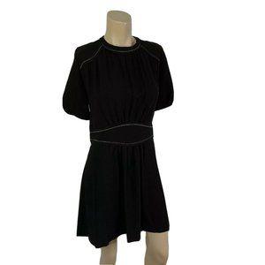 ISABEL MARANT Black Dress 44 (US L) Short Puff Sle